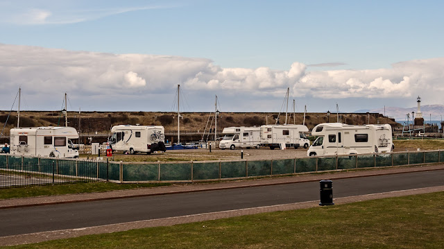 Photo of the Harbourside Caravan Park next to Maryport Marina
