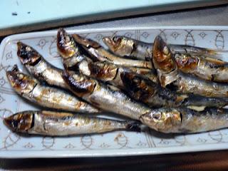 酒の肴 焼き魚 めざし