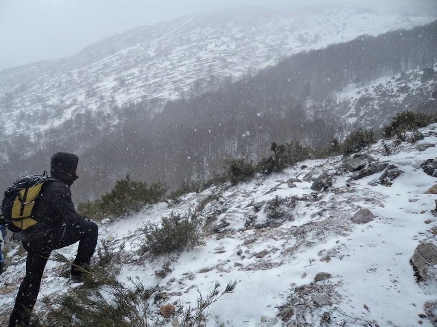 Lipe-mirando-el-paisaje-nevado-de-camino-a-la-tejeda