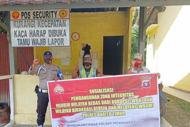 Polsek Patangkep Tutui Sosialisasikan Wilayah Bebas Korupsi