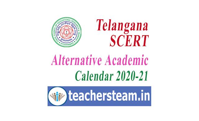 alternative academic calendar 2020-21 for telangana schools