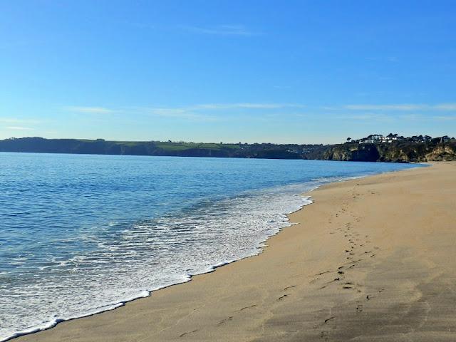 Carlyon Bay sandy beach