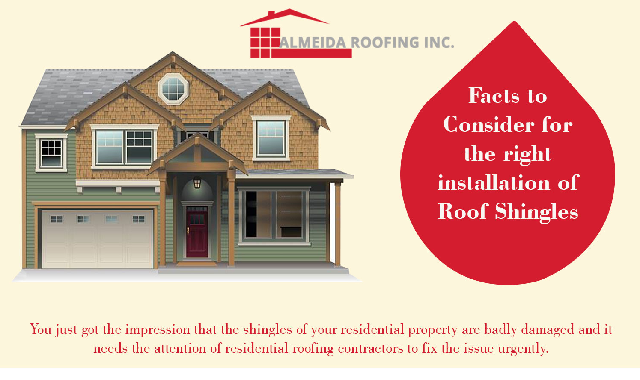 Facts To Consider For The Right Installation Of Roof Shingles #infographic