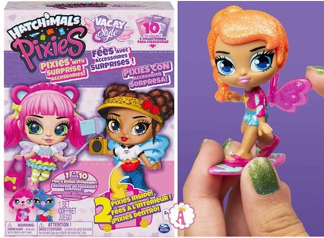 Новые куклы феи Hatchimals Pixies Vacay Style любят путешествовать