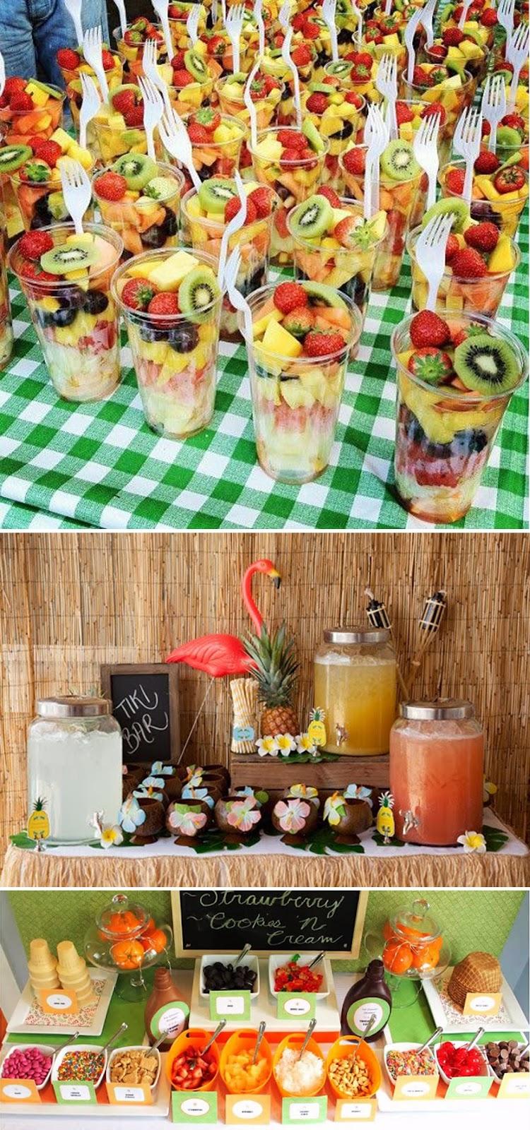 Decoração, comidas, bebidas