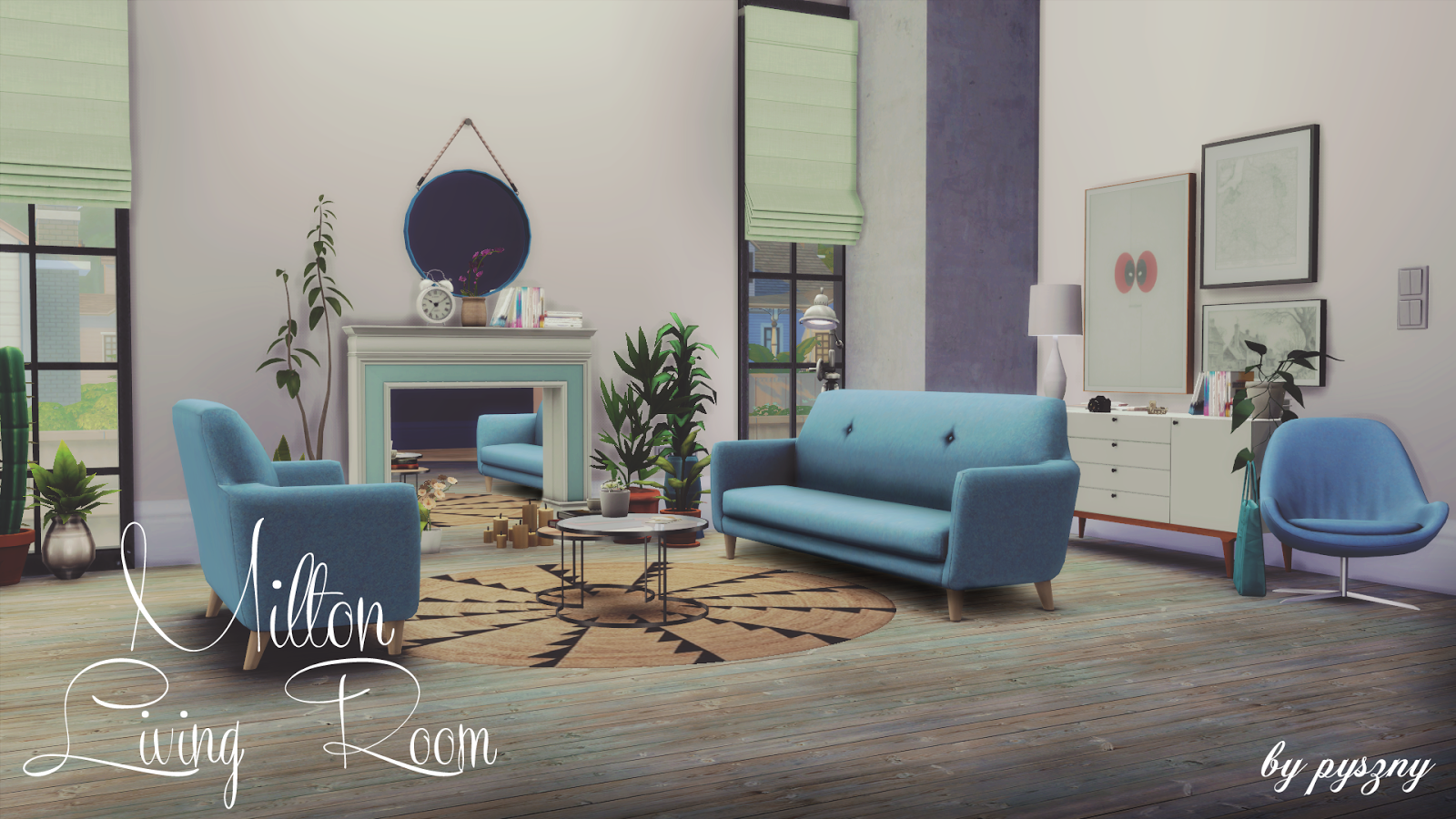 My sims 4 blog milton living room set by pyszny for Living room ideas sims 3