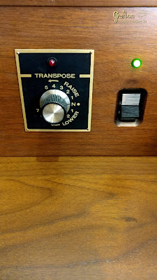 Allen organ, left-side 12-not key transposer and on-off switch