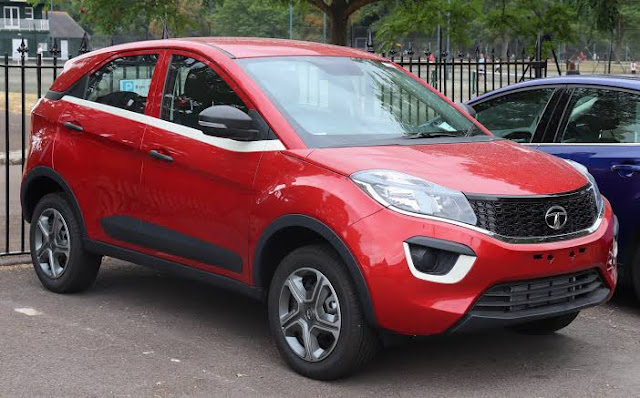 Tata Nexon facelift spied with production-ready headlamps