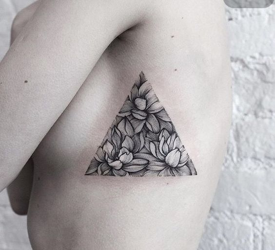 16 meaningful triangle tattoo ideas pop tattoo. Black Bedroom Furniture Sets. Home Design Ideas