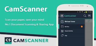 تحميل برنامج المسح الضوئي camscanner مهكر