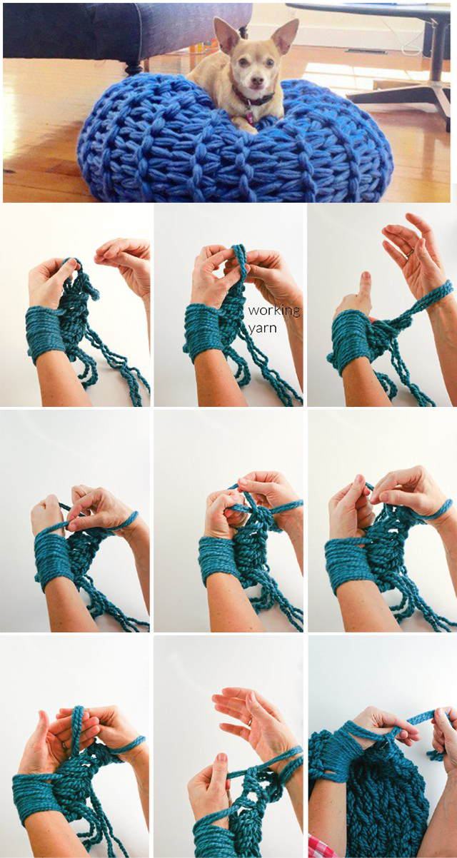 The man who invented the use of thicker spokes instead of their own hands, you need to give the order for the idea. Knitting without hands and crochet - it is very simple, very quickly and simply hilarious fun.