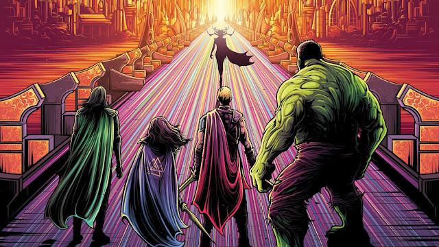 Thor Ragnarok, Thor, Hela, Hulk, Loki, Arte Digital, Marvel, Valkyrie, hd, 4k.