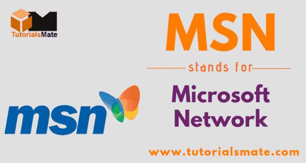 MSN Full Form