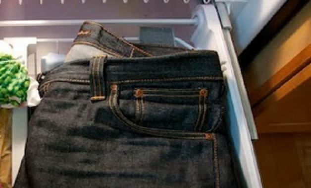 Φαίνεται παράξενο αλλά θα σας αφήσει ΑΦΩΝΟΥΣ! Βάλτε το τζιν παντελόνι σας στην κατάψυξη και δεν θα χάσετε!