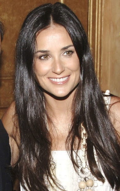 demi moore sexy long hairstyles