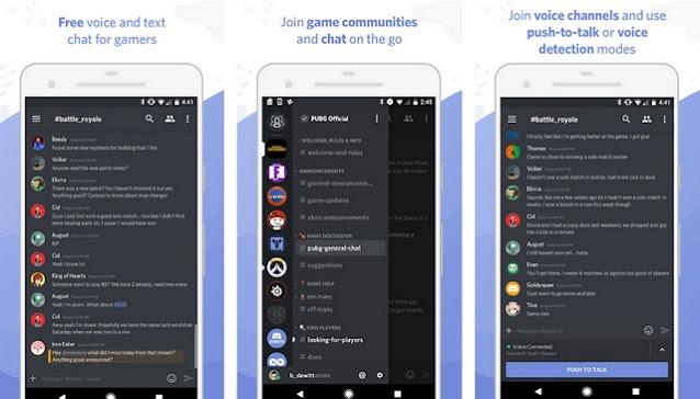 Discord - أفضل تطبيقات لإجراء مكالمات مجانية للاندرويد