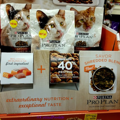 Display at PetSmart of Purina ProPlan Savor