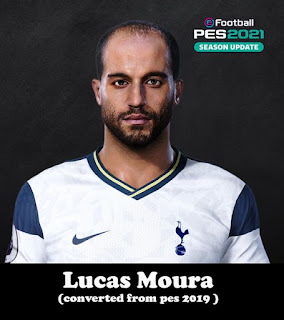 PES 2021 Faces Lucas Moura by Shenawy & Toni Tony