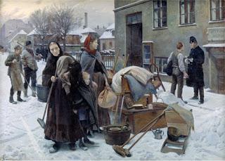 Sat ud (Kastet ut). Erik Henningsen, 1892.