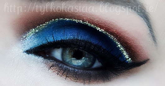 Cut Crease z brokatem + info co u mnie