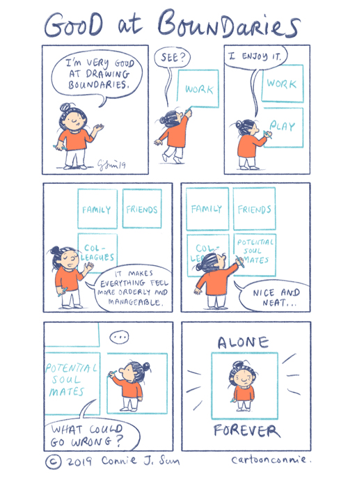 self awareness, comic strip, sketchbook, journal comics, connie sun, cartoonconnie