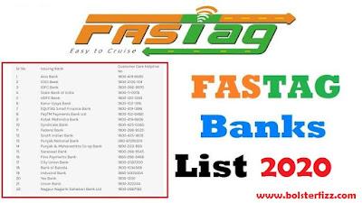fastag banks list 2020