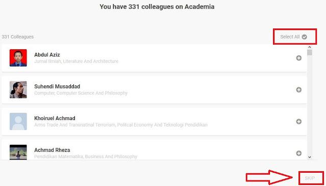 Perintah Mengikuti Pengguna Academia.edu