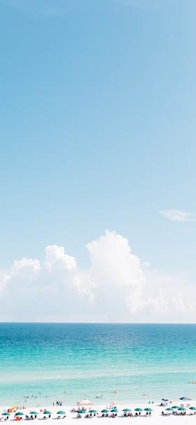 خلفية شاطئ الرمال النقية ومياه البحر الفيروزية