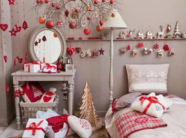 Dormitorios decorados por navidad ideas para decorar for Cuartos decorados con estrellas