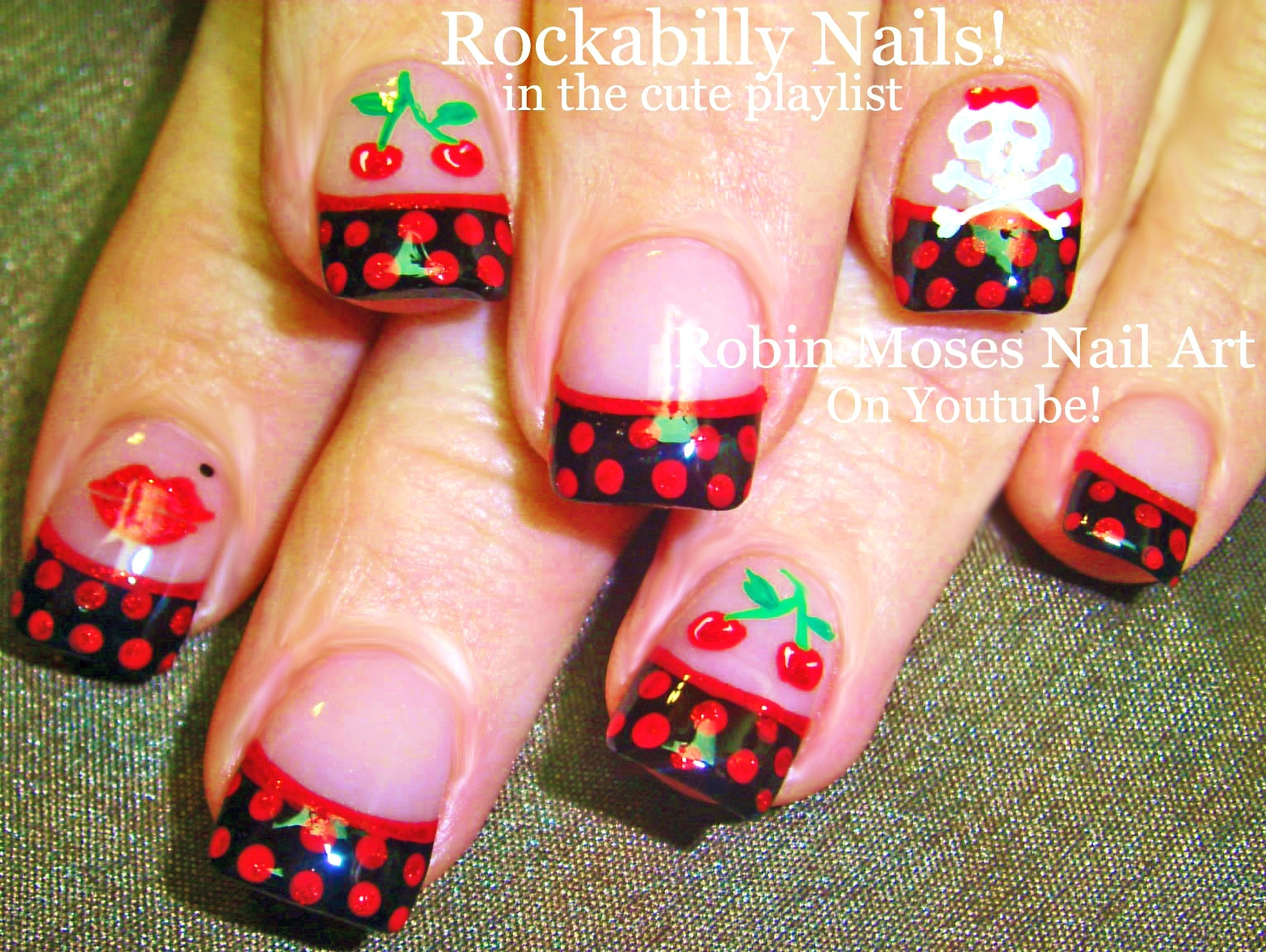 Nail Art by Robin Moses: Rockabilly Nail Art! Dive into the 1950\'s ...
