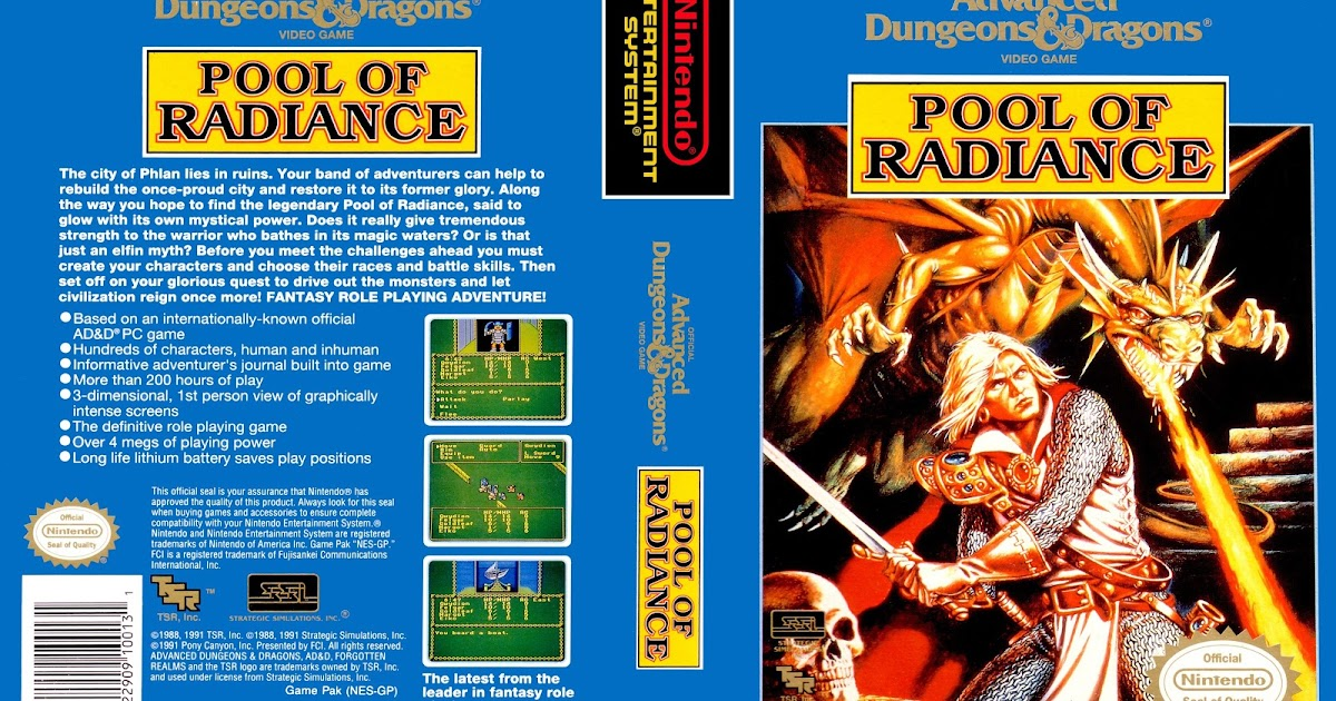 Pool of radiance nes gamecover baixar de capas dvd e bluray