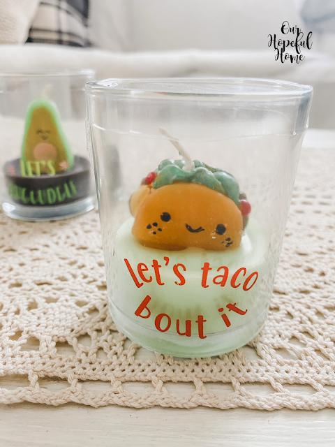 taco votive candle jar