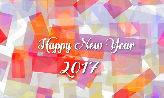 new year greetings card welcome 2017 new year