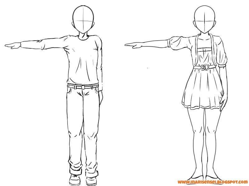 positionner les plis sur des personnages mangas