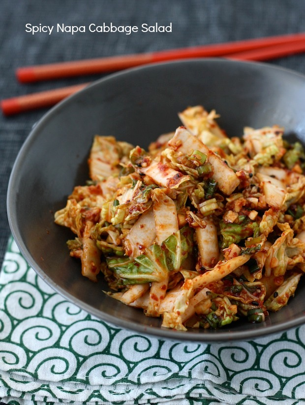 Spicy Korean Napa Cabbage Salad Fresh Kimchi Season With Spice