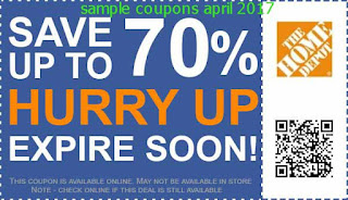 Home Depot coupons april 2017