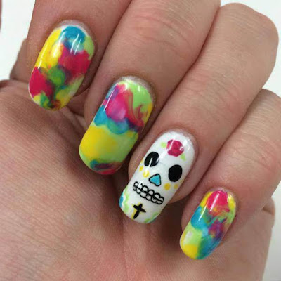 French Floral, Mylar Nails ,Art Ideas