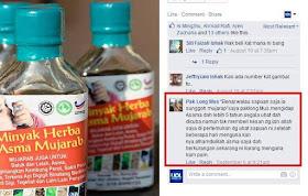 testimoni pengguna minyak herba asma