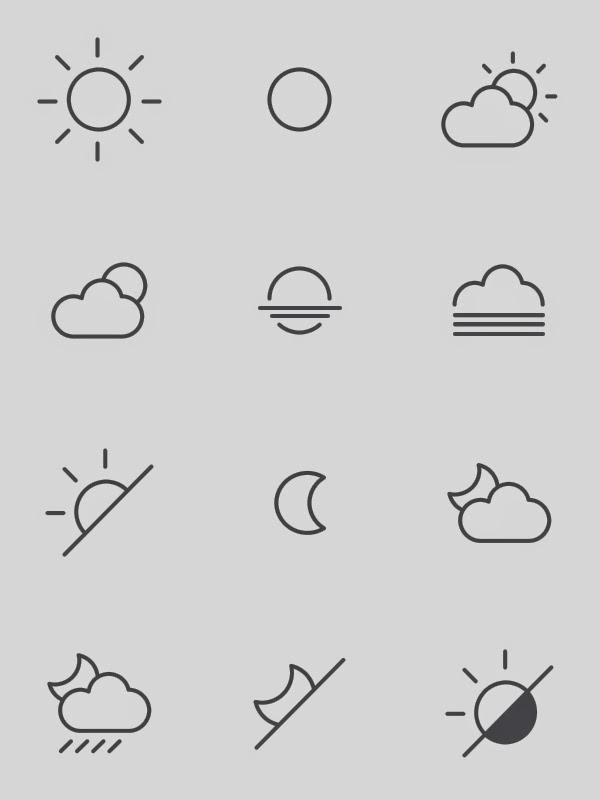Free Weather Icons by s-pov spovv and Sm Artists