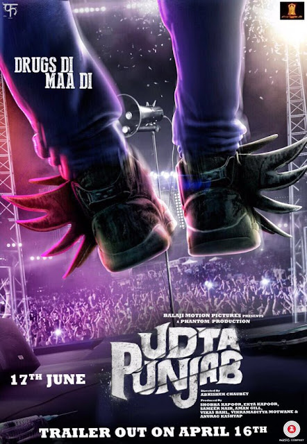 Udta Punjab (2016) Poster - Kareena, Diljit Dosanjh, Shahid, Alia