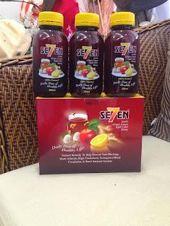 Minuman semula jadi untuk menjaga kesihatan dan mengawal paras kolesterol dalam badan. Se7en dibuat dari perahan bawang putih, halia, lemon, madu dan cuka epal.
