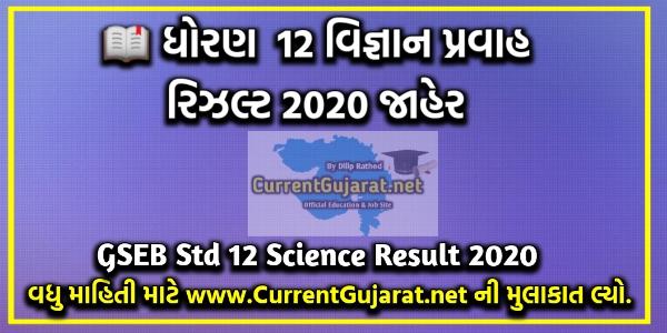 GSEB Std 12 Science Result 2020