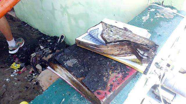 Allahu Akbar, Dua Mushaf Al-Quran Selamat dari Kebakaran Hebat