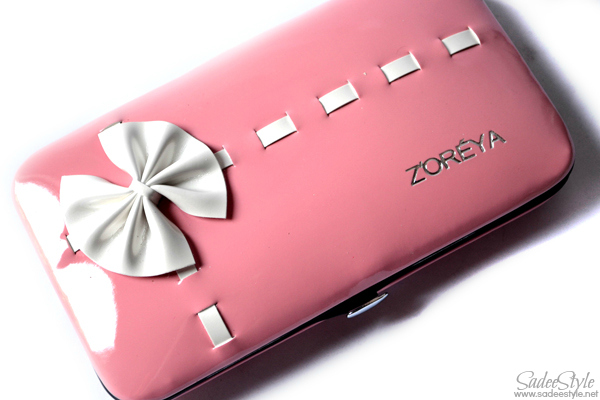 Zoreya Five pieces travel brushes with pink suit