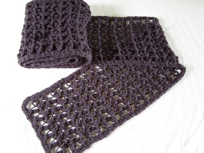 scarf, crochet, love knot,