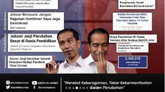 Usai Kritik Jokowi-Ma'ruf, BEM Unnes Dapat Kecaman dari Pihak Rektorat: Tolong Ditarik Postingannya, Jangan Sampai Berhadapan dengan Massa PDI