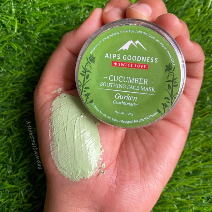 Alps Goodness Cucumber Face Mask Review