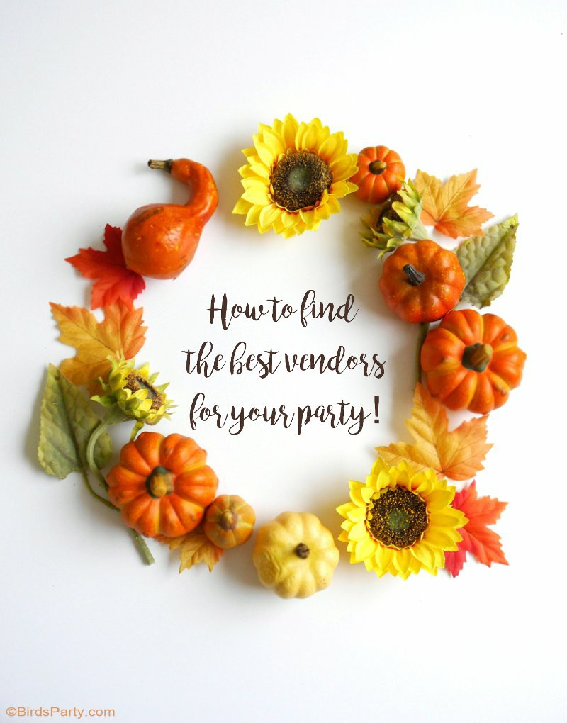 How To Find the Best Party Vendors for Your Event - from party planners to designers, photographer and bakers - find the best professionals near you! by BirdsParty.com @birdsparty