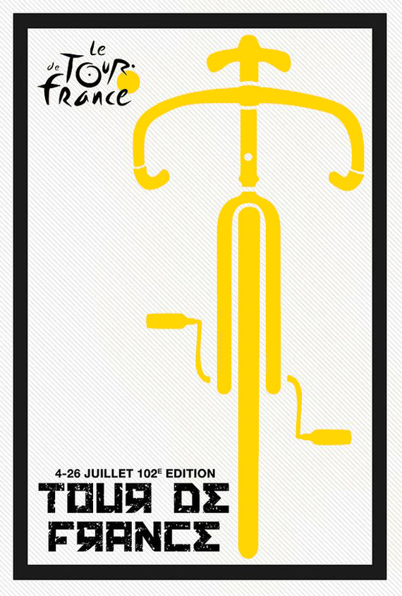 tour de france velò affiche jaune color