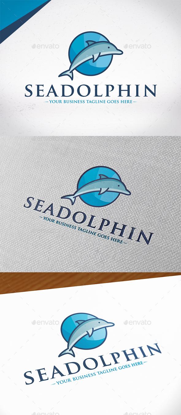 Sea Dolphin Logo Template Graphicriver - graphicriver free download